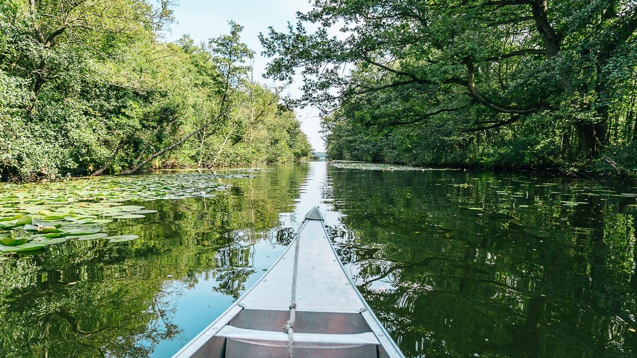 Kanutour auf der Mecklenburgischen Seenplatte