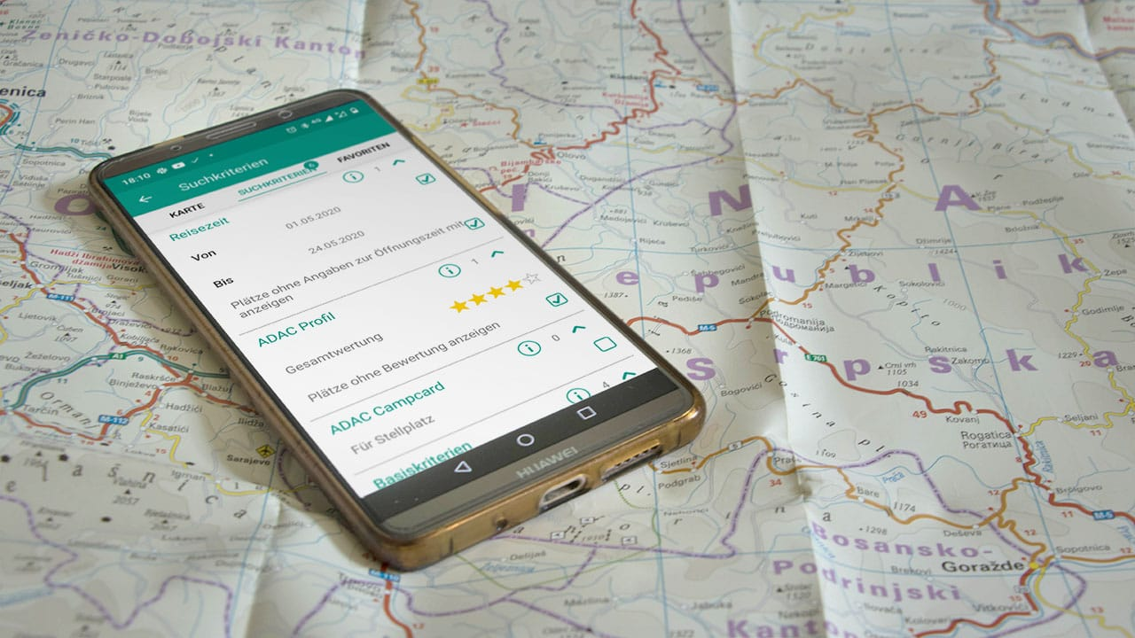 ADAC Campingführer App im Test