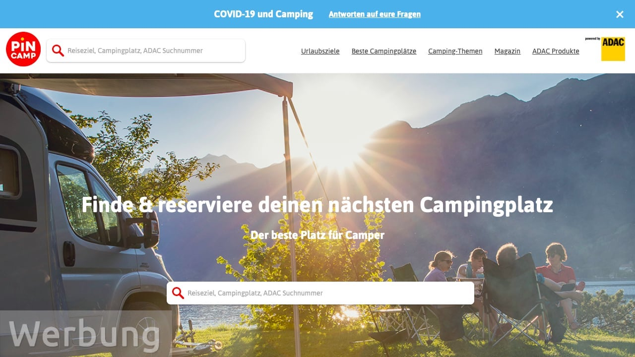 Campingplatz buchen auf PiNCAMP