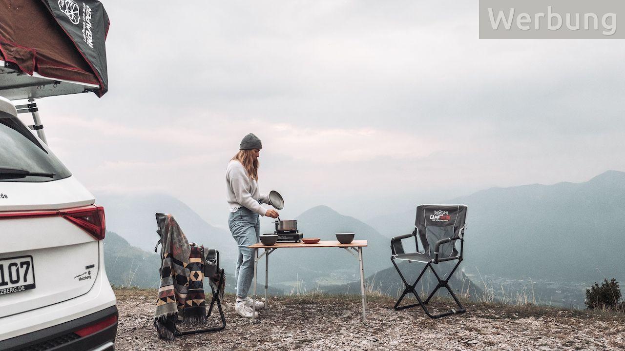 Bequem sitzen unterwegs – 2 faltbare Campingstühle von CAMPWERK zu gewinnen